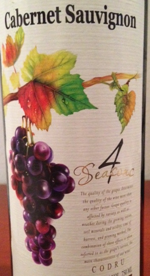 4 Seasons Cabernet Sauvignon 2014 750ml